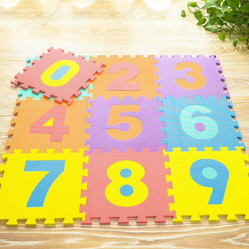 JCC Baby EVA Foam Puzzle Play Mat /Number kids Education Carpet and Rug Interlocking Exercise Floor Tiles,Each:30cmX30cm(no edge
