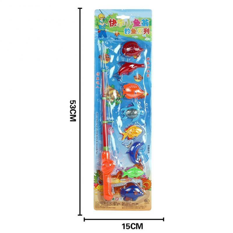 Hot-Sell-Magnetic-1-Rod-8-Fish-Catch-Hook-Pull-Baby-Children-Bath-Fishing-Game-Set-Outdoor-Fun-Toys-Fishing-Toys-FL-2