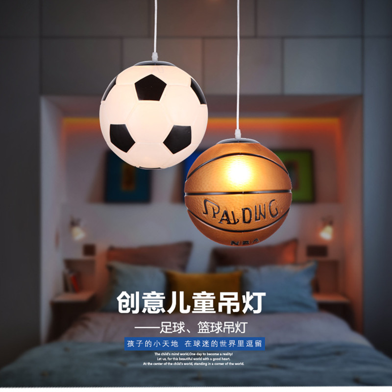 Nordic Glass Soccer Pendant Lamp Basketball Pendant Light Modern Restaurant Children's Room Hanging Lighting Luminaire Luminaria