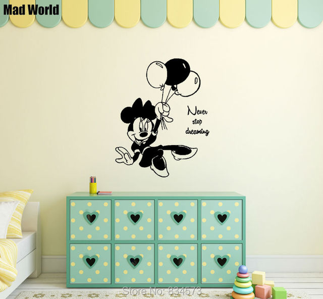 Mad World Never Stop Dreaming Quotes Children Wall Art Stickers Wall ...
