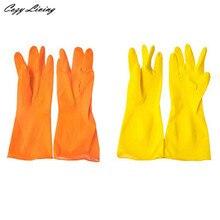 Хозяйственные Перчатки 1 Pairs Водонепроницаемый Резиновые Латексные Перчатки для Мытья Посуды Прачечная Дому Нескользящей Перчатки Оптом ЯН 5-Й