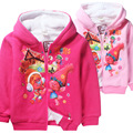 New Trolls Girls Jacket Winter Cartoon Cotton hooded Warm Coat For Girls Christmas Costume Kids Clothes Children's clothing