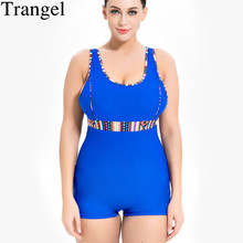 Trangel One Piece Swimsuit Swimwear Large Size Bikini 2019 Solid Bather Swimwear Female Swimsuit Swimming Suit For Women Bikini недорго, оригинальная цена