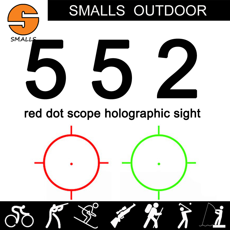 Tactical airsoft 552 Holographic sight Red Green Dot Sight red dot Scope for rifle scope for hunting black wipson outdoor hunting 558 33 holographic red green dot sight rifle scope for 20mm weaver rail mounts black color