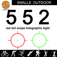Tactical airsoft 552 Holographic sight Red Green Dot Sight red dot Scope for rifle scope for hunting black