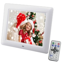 New 8 inch Screen Digital Photo Frame Outside Recharging Battery Electronic Album Picture Music Video Good Gift