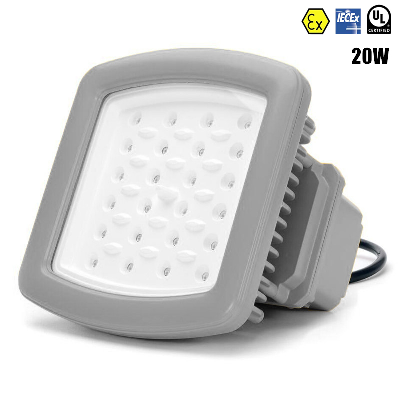 ATEX UL IECEx Explosion Proof Light 20W LED High Bay Lighting Class 1 AC100V-277V UL DLC 20W LED Explosion Proof Flood Light