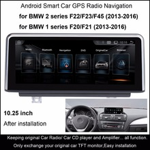10.25″Android 4.4 Car Radio Stereo for BMW 1 Series F20/F21 (2013-2016) 2 series F22/F23/F45 (2013-2016) GPS Navigation WiFi
