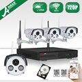 Anran kit de vigilancia de vídeo inalámbrico de $ number canales nvr hd 720 p ip cámara al aire libre impermeable de la visión nocturna sistema de cámaras de seguridad