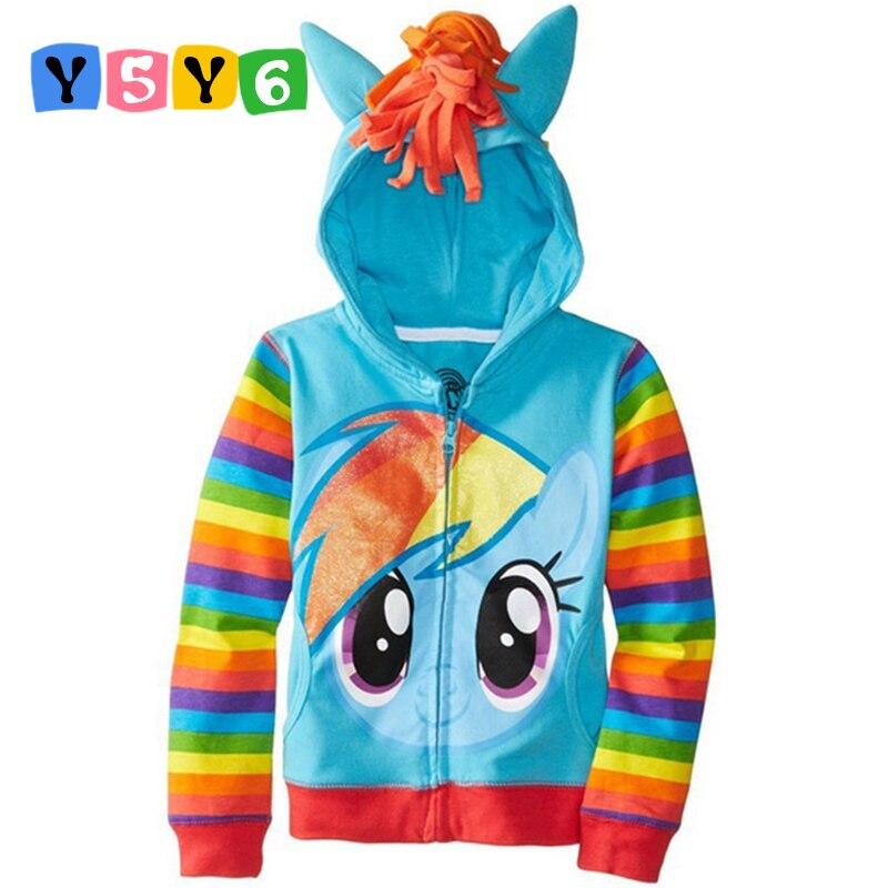 2018 NUOVO 1 pz pony Per Bambini Ragazze e ragazzi giacca Cappotto dei bambini Sveglio Delle Ragazze del Cappotto, felpe con cappuccio, ragazze Giacca di Cotone dei vestiti dei bambini