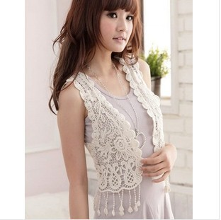 Fringed Vest New Japanese Sweet Vest Hand Crochet Shawl Tops Brand Design Women Free Shipping