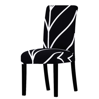 Zebra Stretch Printed Chair Cover with elastic Suitable Home and Banquet Decoration