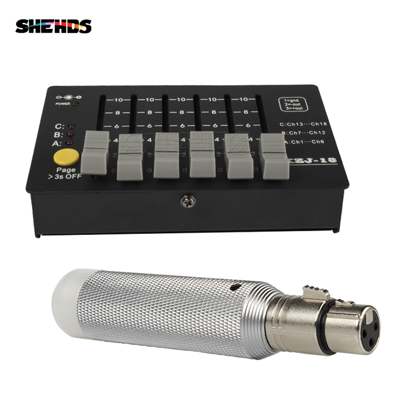 SHEHDS Controller Wireless Receiver Recharge 2.4G ISM Female Connector Wireless Remote Control DMX Signal Transmitter 18 Console