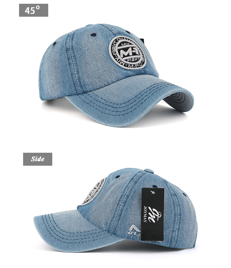 New arrival high quality snapback cap demin baseball cap 5 color Jean badge embroidery hat for men women boy girl cap B346 20