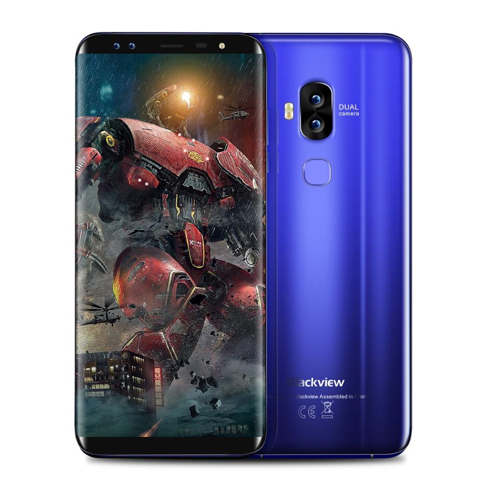 Blackview S8 4G LTE Smartphone 5.7 ''18:9 plein écran Octa Core 1.5 GHz 4 GB RAM 64 GB ROM 4 caméras Android 7.0 téléphone Mobile