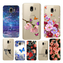 Soft TPU for Samsung J4 2018 J400 Soft TPU print cute fashion phone case For Samsung J4 2018 j400 Phone protect cases shell J400 смартфон samsung galaxy j4 2018 j400 32gb черный
