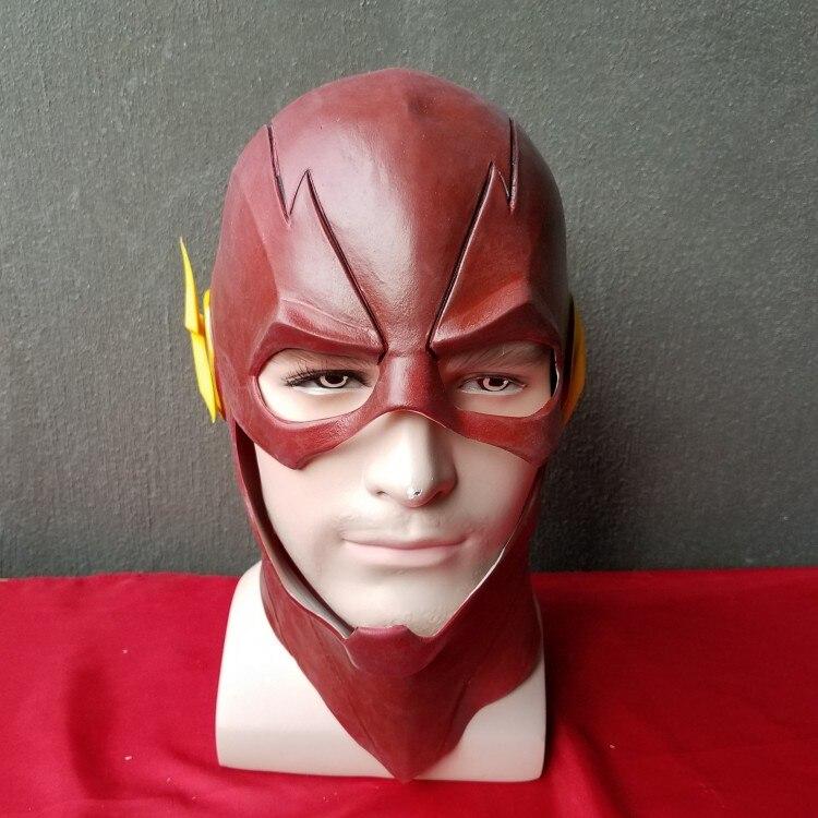 Superhero The flash Allen Cosplay Helmet masks Prop Movie Captain America Civil War Red and Yellow Full Head Latex mask NL1101