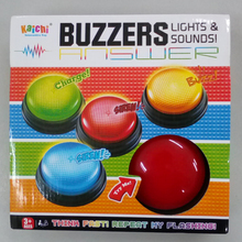 Free Shipping plastic educational toy for family game competition quiz buzzers with lights and sounds