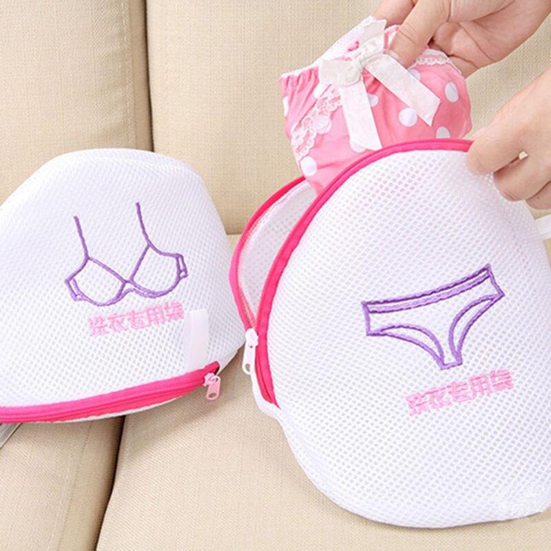 New Zipped Laundry Washing Bag Socks Bra Clothes Shirt Underwear Embroidery Mesh