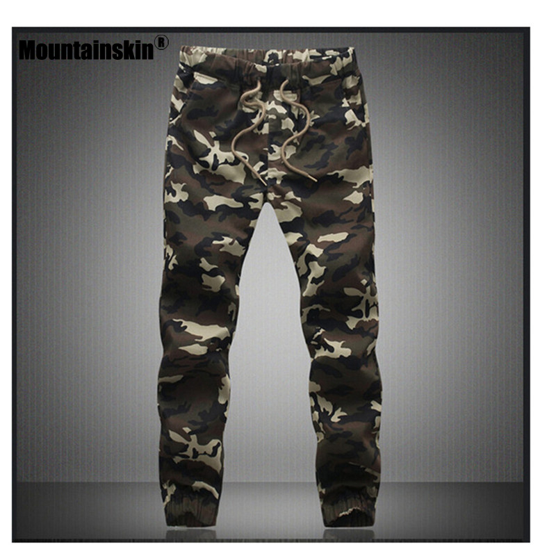 Mountainskin Camouflage Tactical Pants Mens Joggers Camo Pants Mens Sweatpants Army Slim Fit Skinny Trousers Male 5XL JA269