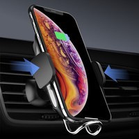 Pre sale Car Air Vent Wireless Phone Charger Holder 360 Degree Rotation Mount for iPhone XS XR Car Mobile Bracket Universal