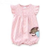 Baby Rompers Summer Baby Girls Clothing Cartoon Newborn Baby Clothes Roupas Bebe Short Sleeve Baby Girl
