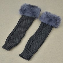 Fashion Women Arm Warmer Faux Fur Fingerless lengthy Mittens Gloves Black White Deep Gray Khaki Coffee