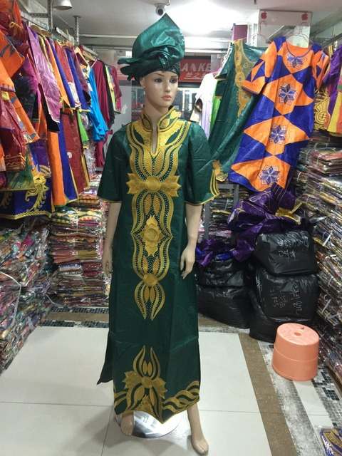 2016 African bazin riche dress for women Embroidery Dress For Women Kaftan Lady dress Plus Size Cloth S2346