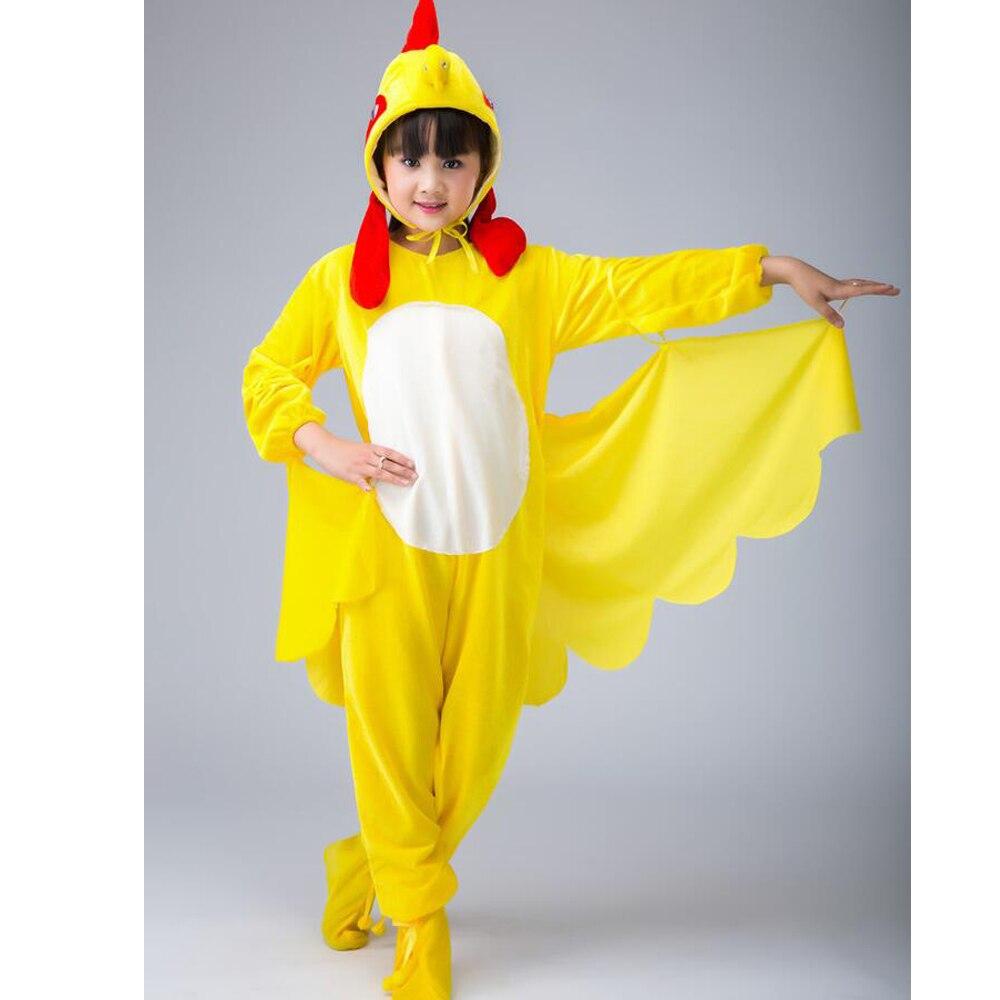 SchöN Kinder Cosplay Kleidung Unisex Bühnenshow Tier Cosplay Kostüme Jungen Mädchen Hahn Huhn Küken Leistungsabnutzung Anzug Outfits 100% Original