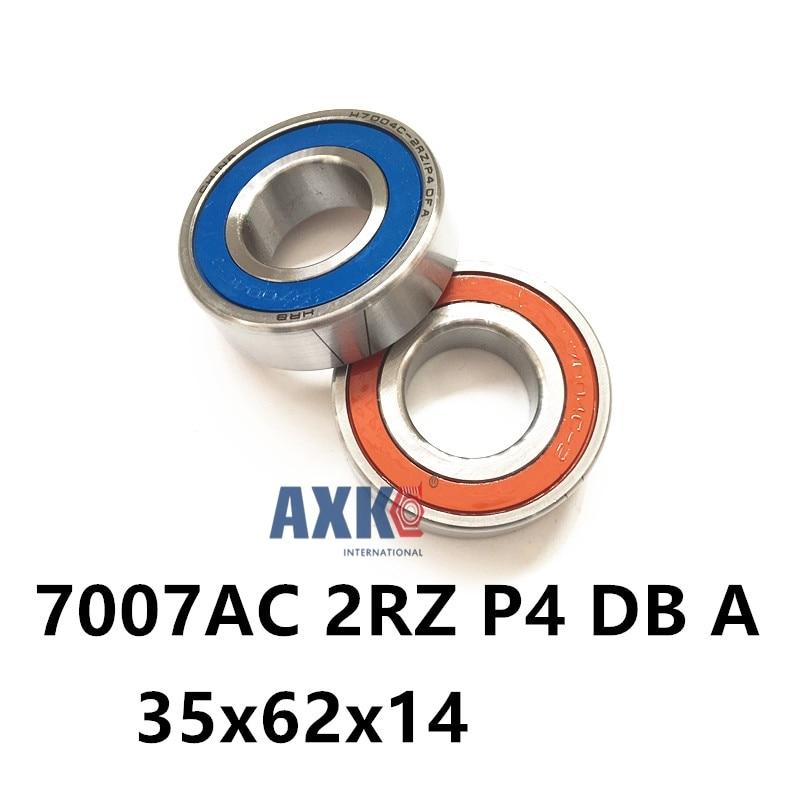 1 Pair AXK  7007 7007AC 2RZ P4 DB A 35x62x14 35x62x28 Sealed Angular Contact Bearings Speed Spindle Bearings CNC ABEC-7 1pcs 71901 71901cd p4 7901 12x24x6 mochu thin walled miniature angular contact bearings speed spindle bearings cnc abec 7