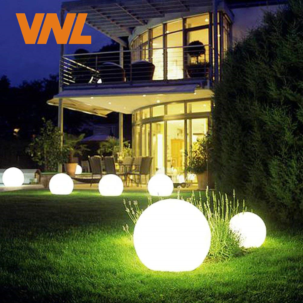 VNL IP65 LED Solar Garden Ball Light Solar Powered Lawn Lamp With Light Sensor For Outdoor Holiday Garden Path Landscape Decor