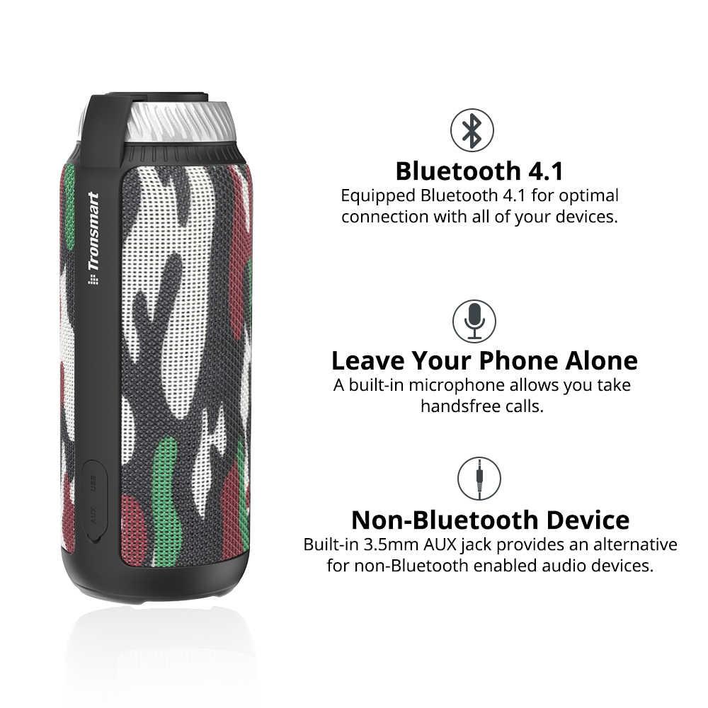 Новый Камуфляжный Tronsmart T6 Bluetooth Динамик 25 Вт звуковая панель Колонка для отдыха на открытом воздухе Портативный Динамик s AUX громкий Динамик 15 часов проигрывания во время езды