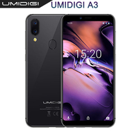 UMIDIGI A3 5.5incell HD+display 2GB+16GB smartphone Quad core Android 8.1 12MP+5MP Face Unlock Global Band Dual 4G Mobile Phone