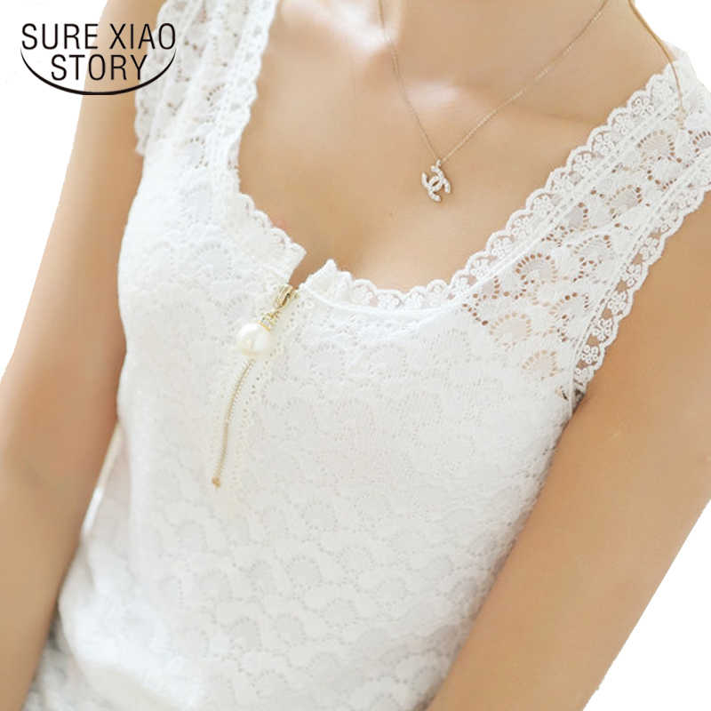 2019 Fashion Summer women Tops Lace Patchwork 3XL plus size Women blouse White Sexy Hollow Out Chiffon Lace Blouse Shirt 117F 20