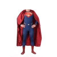Yüksek Kalite Superman Spandex Suit Kostüm Mavi Zentai Suit Superman Kostüm Yetişkin Spandex Cosplay Superhero Film Kostümleri