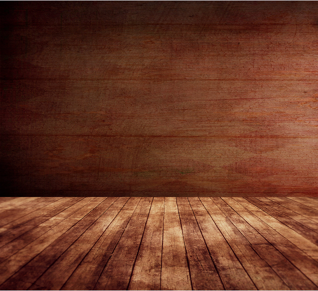 8x15ft Indian Red Wood Planks Wall Hard Wooden Floor