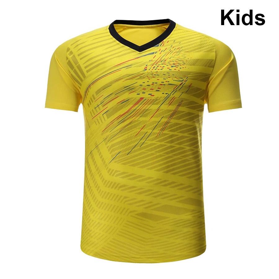 2018 Badminton shirts Kids , Children Tennis shirt , Girls sports Fitness Running shirt , Boys Table tennis shirt 3086