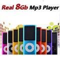 Delgado cuarto gen mp4 del jugador 8 GB 9 Colores para elegir el tiempo de reproducción de Música 30 Horas de radio fm video jugador