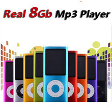 slim 4th gen mp4 player real 8GB 9 Colors for choose Music playing time 30Hours fm radio video player