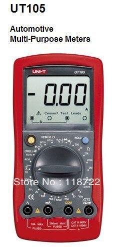 UNI-T UT105 Auto Range Digital Automotive Multimeter Handheld Automotive Multi-Purpose Meters  цены