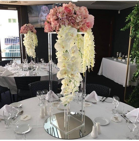 Acrylic Transparent Flower Stand Wedding Display  Stand Hotel Table DecorationAcrylic Transparent Flower Stand Wedding Display  Stand Hotel Table Decoration