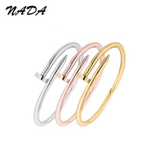 Trendy Rose Gold Silver Lover Bracelet for Women Bangle Lover Bracelet Jewelry Titanium Love Bracelet Bangle Pulseiras B17009
