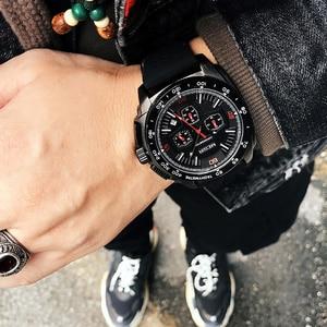 Image 4 - Часы MEGIR мужские кварцевые с хронографом, модные повседневные армейские спортивные, в стиле милитари, с силиконовым ремешком