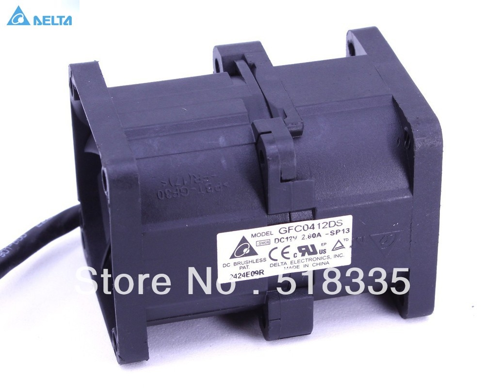 Для delta GFC0412DC 4 см 40 мм 4056 40*40*56 мм 12 В 2.80A двойной шарикоподшипник Вентилятор охлаждения