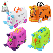Ride-on Suitcase for kids Carry on Rolling luggage suitcases riding trolley bag for kids wheeled travel baggage for Children все цены