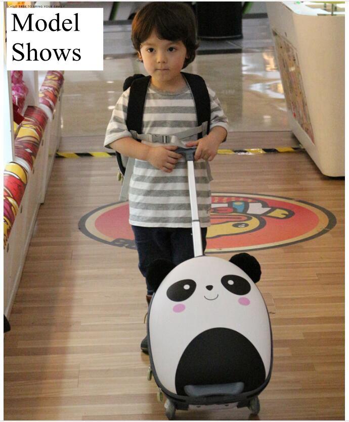все цены на Cartoon Suitcase for Kid Children Travel Trolley Suitcase for boys wheeled suitcase for girls Rolling luggage suitcase Child