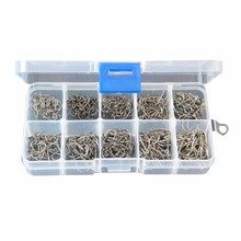 Carbon Steel Fishing Hook Fishhooks Fishing Hooks With Hole Fishing Tackle Box 500 pcs Useful