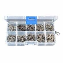 Carbon Steel Fishing Hook Fishhooks Fishing Hooks With Hole Fishing Tackle Box 500 pcs Useful