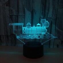 Детская осветительная игрушка 3d огни креативный поезд ночник новая необычная Электроника Прекрасный 7 цветов Изменение 3D лампа