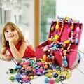 Incrível pop DIY quebra-cabeça brinquedos para menina de crianças menina com pulseira